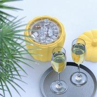 Seaux de glace et refroidisseurs de la citrouille Sucket Silicone Sucket Champagne Whisky Beer Cube Maker Portable Vin Cooler Outils Cuisine Accessoire