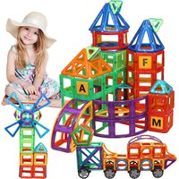 Kacuu Big Size Designer Magnetic Designer Set Modello Building Toy Magneti Magnetici Blocchi magnetici Giocattoli educativi per bambini Q0723