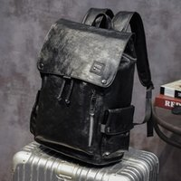 Backpack Men Leather Laptop Business Bags School Bag Fashion Waterproof Travel Casual Book