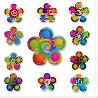 다채로운 감각 fidget 푸시 거품 보드 장난감 간단한 딤플 fidgets 플러스 3 잎 5면 손가락 재생 게임 안티 스트레스 회 전자 DHL