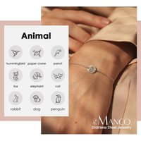 Charm Bracelets 9mm 13mm Fold Design Animal Bird Braclets Engrave Dog Cat Coin Bracelet 316L Stainless Steel Link Chain Women Jew