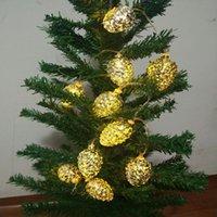 Строки светодиодные строки огни 1,5 м 10LED аккумуляторные заряженные сосны Cones Fairy освещение елки украшения деревьев