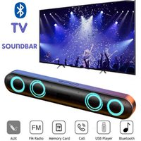 6D Surround Soundbar Bluetooth 5.0 Home Speaker Wired Computer Speakers Stereo Subwoofer Sound Bar PC Laptop Theater TV Aux