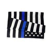 3X5FTs 90cmx150cm Gesetz Vollstreckungsbeamte US-amerikanische Polizei dünne blaue Linie Flaggen Blueline USA Polizei-Flaggen owd8185