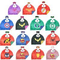 50 * 70 cm Çift Yan Parti Cosplay Pelerin Ve Maskeleri Karikatür Tema Kostüm Çocuk Erkek Kız 1-4t Fantezi Elbise Için