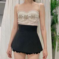 21 Temperamento de Diamante Slim One-Peça Corset Suspender Colete Underpants Mini Saia