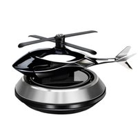 Car Air Freshener Decoration Airplane Non-Slip Mat Alloy Solar Energy Rotate Aircraft Styling