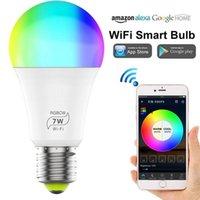 Smart Home Control 7W WiFi Light Bulb B22 E27 LED RGB Lamp Work With Alexa Google 100-240V RGB+White Dimmable Timer Function Magic