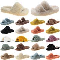 2021 luxury women slides slippers shoes womens comfortable loafer black yellow slide slipper flat flip flops size 35-40 color12