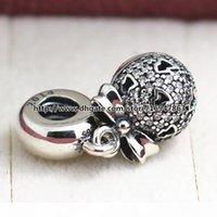 925 Sterling Silver 2014 Christmas Wish Dangle Black Friday Charm Bead with CZ Fits European Pandora Jewelry Bracelets Necklaces & Pendant