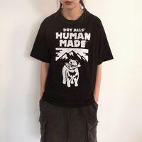 CoM Markalı Moda Marka Polar İnsan Ayı Balık Yeme erkek ve kadın Kısa Kollu T-shirt R4DD