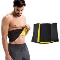 Men's Body Shapers Mens Waist Trainer Shaper Slimming Belts Adjustable Cinchers Sauna Sweat Fat Reduce Wear Trainers