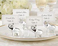 Articles d'éléphant argenté Porte-cartes Fournitures de fête de mariage Décoration de mariage Faveurs cadeaux pour la douche de mariée HWF10689