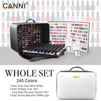 30917K Canni 240 stücke Nagelgel Ganzes Set Base Top Color Polnische Kit uvled Soak off 7.3ml