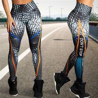 Women's Leggings 3D Letter Printed Women Fitness Skinny High Waist Elastic Push Up Legging Workout Pants Leggins