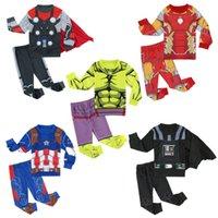 2 PCS Boys Pajamas Sets Kids Pirate Sleepwear Child Superhero Cosplay Pyjamas Spring Winter Clothes 3-8Y