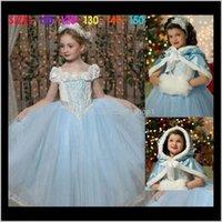 Детская одежда, детка, дети родильный падение доставки 2021 розничная одежда Cinderella платья принцесса + шаль накидка фея малыша одежда свадебная вечеринка D