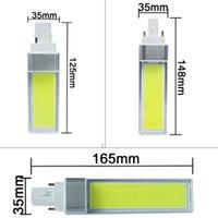 Bulbs LED 10W 12W 15W G24 G23 E27 COB Corn Bulb Lamp Light AC85-265V Spotlight Horizontal Plug White Warm White
