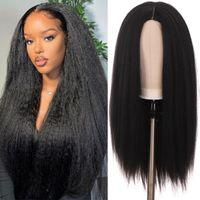 Synthetic Wigs HOUYAN Long Straight Hair Yax African Fluffy Silk Wig Women's
