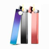 6 Farbjobon Slim Metallgasanzünder aufblasbar für Zigarettenfrauen Männer H0909