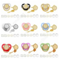 Customize Sublimation Bling Pacifier with Clip Necklace Crystals Party Favor For Baby Keepsake Brithday Gift DAE414