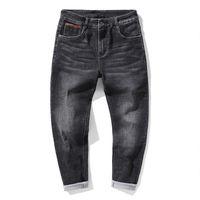 Männer Jeans 2021 Frühling und Herbst Normale Passform Vintage Mode Lässig gewaschener blaue Stretch Denim Hosen Männliche Markenhose