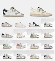 2021 fashion Italy Deluxe Brand Golden Sneakers Shoes Super Star Sequin Classic White Do-old Dirty Goose Designer Man Women Casual