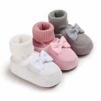 Athletic & Outdoor Baby Girls Cozy Booties Infant Born Socks Boot Winter Crib Shoes Toddler Non-Slip Soft Sole First Walkers 0-18m