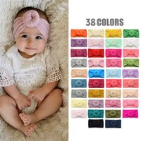 Baby Donut Headband Nylon Soft Stretch Cold Wide Edge Pure Color Hair Accessories Fashion