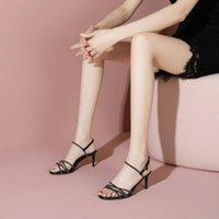Sandals For Women Girls Genuine Leather High Heeled Shoes Sandalias De Verano Para Mujer