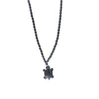 Mar Tartaruga Mar Pingente Colar de Hematite Mulheres Pedra Natural Coração Magnetic Hematite Bead