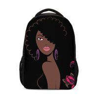 Backpack Backpacks For Girls Fashion Cool Afro Lady Girl Africa African Women Bookbag Teenager School Bag Rugzak Satchels Mochila Escolar