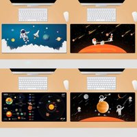Mouse Pads & Wrist Rests Cute Cartoon Airman Universe Space Large Gaming Pad Laptop Keyboard Office Mousepad For Teen Girls Bedroom Long Des