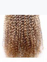 New Brazilian Virgin Remy Capelli ricci Capelli di tramiera in Natural Kinky Curl Weaves non trasformato Blonde Dark Azzurra Destensione umana Capelli