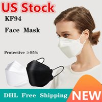 18 Цветов KF94 KN95 для взрослых дизайнер красочные лица маска для лица пылезащитный защитный фильтр формированный фильтр респиратор FFP2 сертификация CE 10шт / пакет DHL корабль в 12 часов