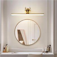 Lampada da parete Bagno Antique LED Specchio Lampada da specchio Makeup Light Light Lighting Lighting Fixture in rame Dress Camera da letto Antler lampade