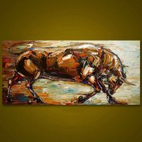 Pittura ad olio animale su tela Home Decor Handpainted / HD-Print Wall Art Picture Personalizzazione è accettabile 21051037