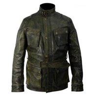 Mens Designer Plus Size Stand Collar Slim Zipper Coats Fashion Casual Men Winter Jacket PU Retro Jackets