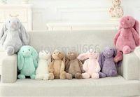 Children Long Ear bunny Rabbit Sleeping Cute Cartoon Plush Toy Kawaii Stuffed Animal Dolls Easter Gift A5875s
