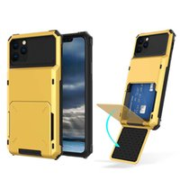Card Slots Phone Cover Hybrid Armor Defender Shockproof Cases for iPhone 12 Pro Max XR Samsung Note 10 Ultra LG Stylo 6