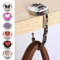 Hooks & Rails Bag Hook Portable Foldable Folding Table Purse Hanger Holder Handbag Crystal Rhinestone Decoration