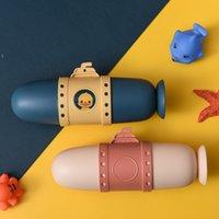 Denizaltılar Karikatür Diş Fırçası Seyahat Kutusu Depolama Kiti Moda Taşınabilir Gargara Kupası Sevimli Severler Kılıf Seti 4 Renkler NHD6688