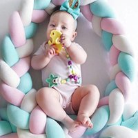 Bedding Sets 2M Length Nordic Knot Born Baby Bed Bumper Infant Room Decor Cradle And Cot Crib For Children's Protector