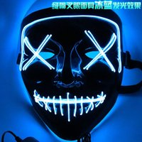 Party Masks Halloween LED Light Up The Purge Election Year Great Funny Festival Cosplay Costume Supplies Glow In Dark