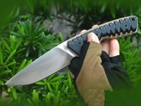 Hot! M27 Survival Straight Knife DC53 Drop Point Satin Blade Full Tang G10 Handle Outdoor Hiking Camping Fixed Blades Knives With Kydex