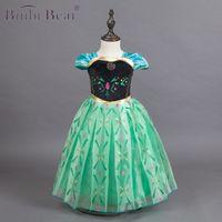 Binbi الدب الاطفال فساتين للبنات اللباس ملكة الثلج فستان الأميرة حفلة عيد ملابس الطفل الأزهار توتو اللباس