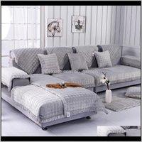 의자 덮개 양털 패브릭 유럽 스타일 부드러운 현대 미끄럼 방지 소파 슬립 커버 좌석 소파 커버 거실 홈 장식 52 W1H WXR2J