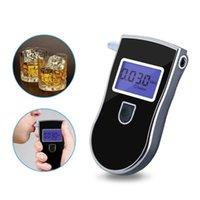 Tragbarer atemalyalzer Analysator Detektor digitaler LCD-Alkohol-Sensor-Atem-Tester mit 5 Einweg-Mundstücke 818 Alkoholismus-Test
