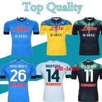S-XXL 21 22 Napoli Futbol Forması 2021 2022 Napoli Koulica Camiseta Fútbol Insigne Milikl H.lozano Mertens Maillot de Futbol Gömlek