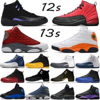 Baskets 12 Baskaetball Chaussures Université Bleu Vachetta Bulls Rouge Foncé Gris Taxi Le Maître Noir Blanc Sport Sneaker